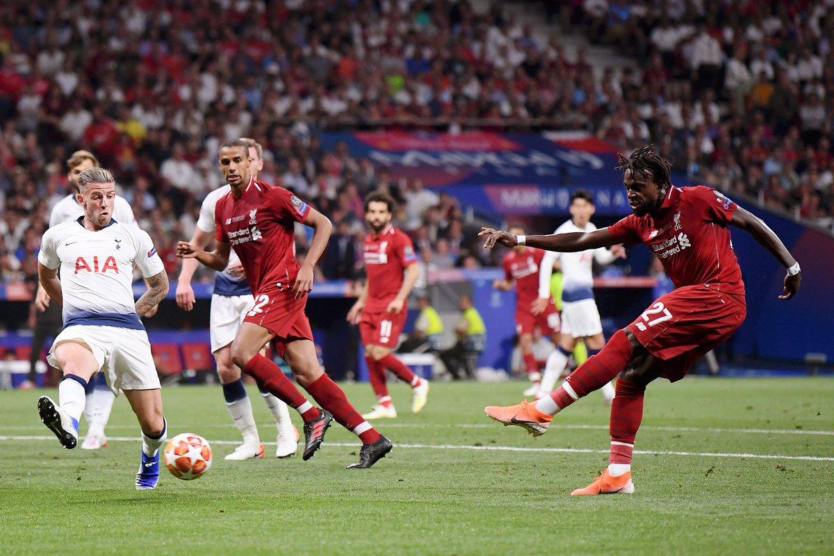 Origi se encargó de poner el triunfo definitivo del Liverpool en los últimos minutos