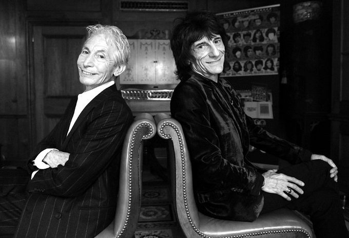 Happy Birthday to Charlie Watts and Ronnie Wood !  Keep on rocking for more years