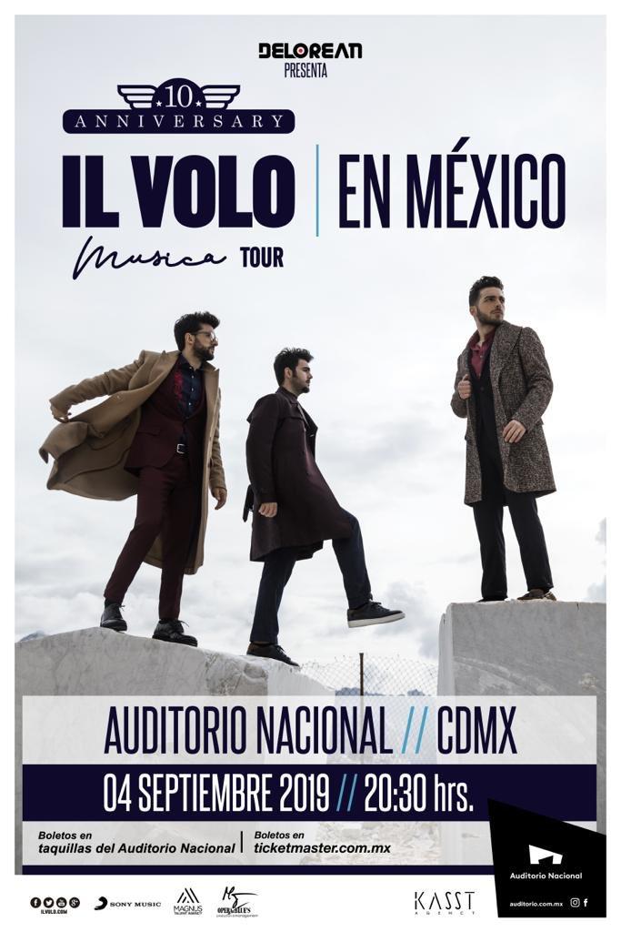¡Este próximo 4 de Septiembre no te puedes perder el regreso de @ilvolo en el Auditorio Nacional! Con su más reciente material discográfico: #MÚSICA.  Los boletos ya se encuentran a la venta a través del sistema @Ticketmaster_Me.  👉🏻https://t.co/C0dBZ5guIm