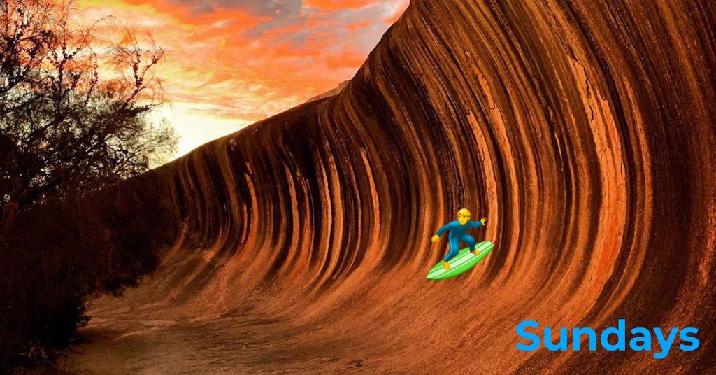 Might do a bit of shark free surfing this Sunday..... #WaveRock #WesternAustralia