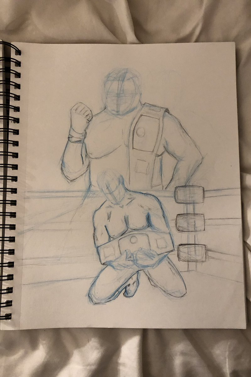 What started as a sketch I was bet I couldn't paint it. I've never really painted but decided to go All In! @CodyRhodes @AEWrestling