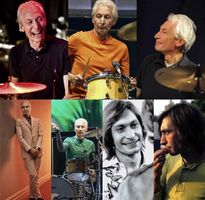 HAPPY BIRTHDAY:)    CHARLIE WATTS 77 years  young : the rhythm section and heartbeat of