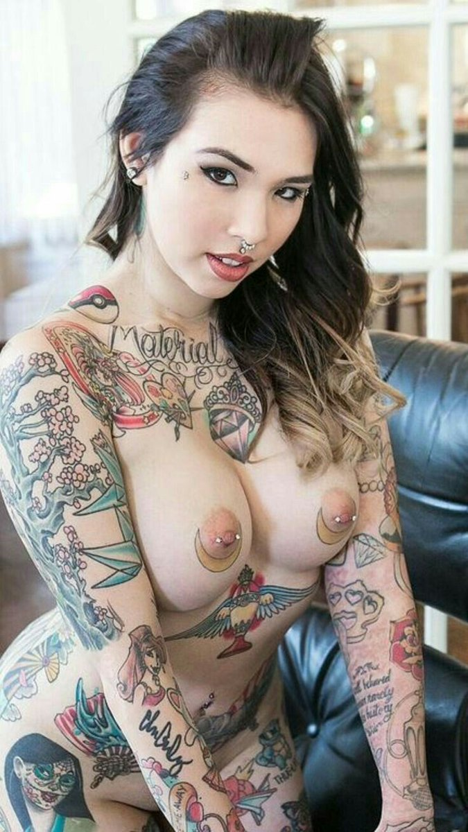 Busty Tattooed Teen