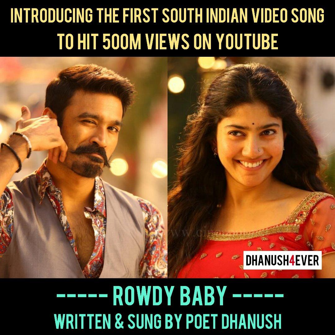 @dhanushkraja Lyrics & Vocals ✍️🎤 @Sai_Pallavi92 Dance 💃 @thisisysr Bgm 🎶🎧🎵 & @PDdancing Choreography 👫 Made #Rowdybaby Awesome 🙏💖  #Dhanush #saipallavi #dhanush4ever