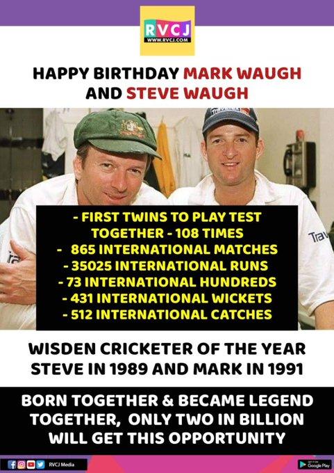 Happy Birthday Mark Waugh & Steve Waugh!