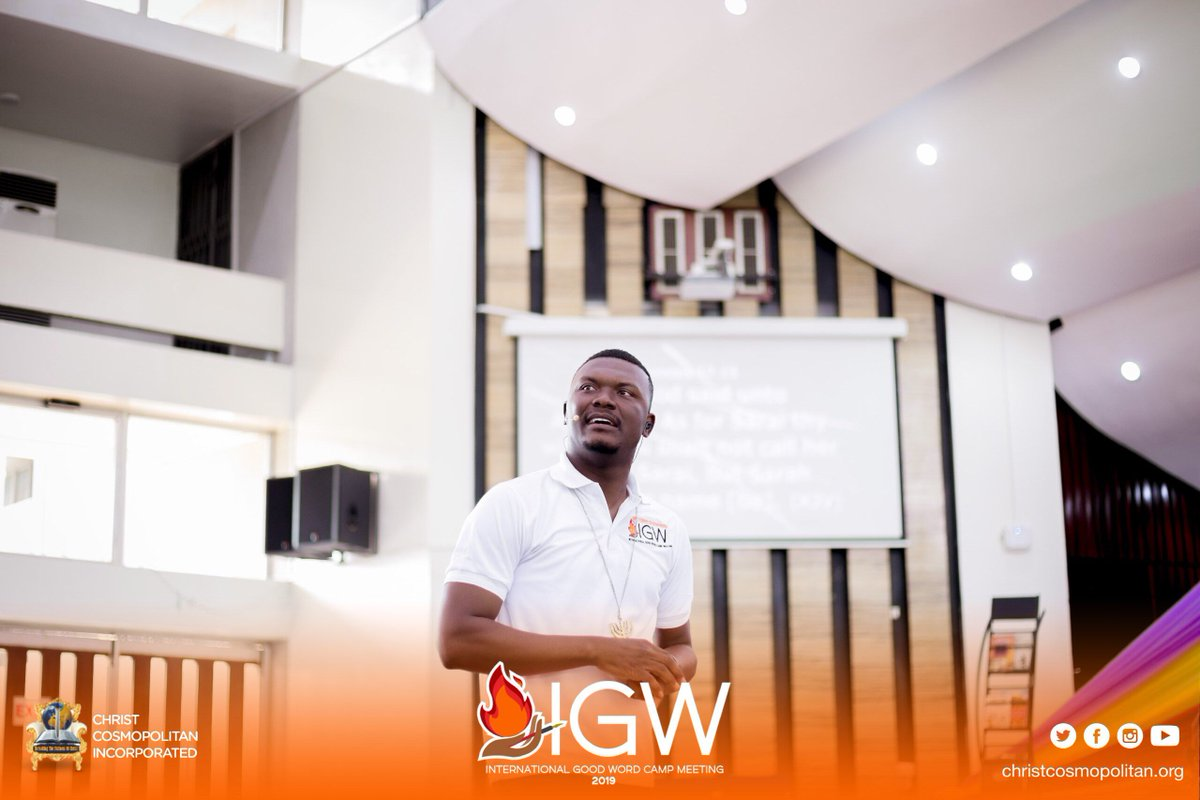 The fire is blazing fiercely at the International Good Word Camp happening at the Great Hall of KNUST.  #ThePastorObed #IGWC2019 #Camp2019 #KNUST