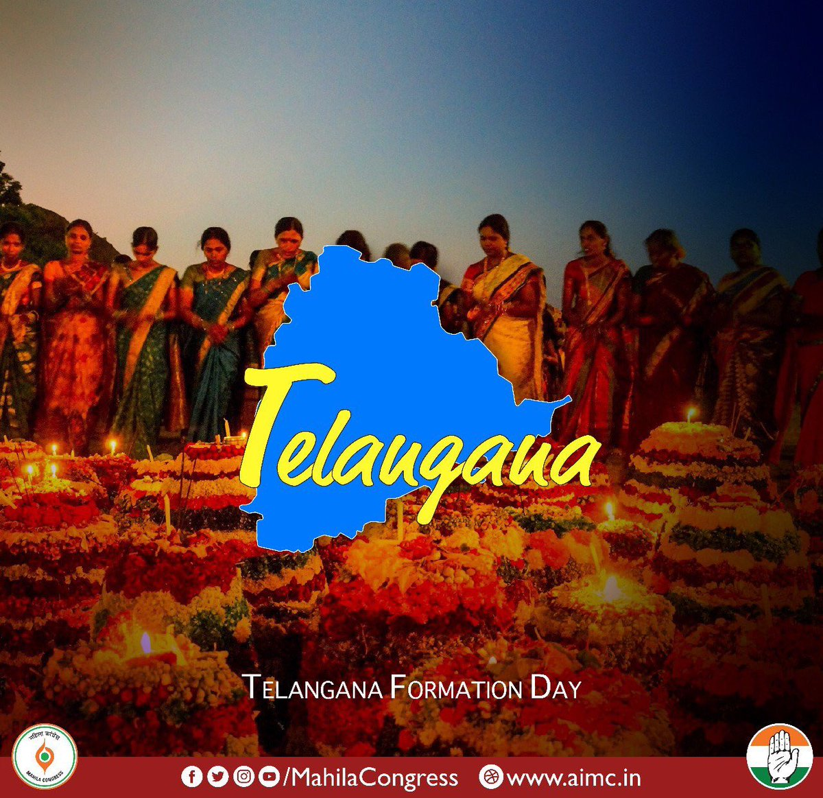 Greetings and best wishes to all the people of Telangana on Statehood Day!