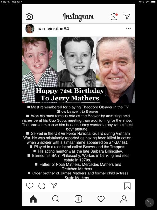 Happy Birthday! Jerry Mathers, Dennis Haysbert, Johnny Weissmuller and Sally Kellerman!