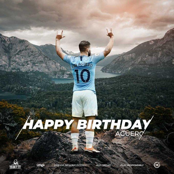 Happy Birthday Sergio Aguero! Today he turns 31