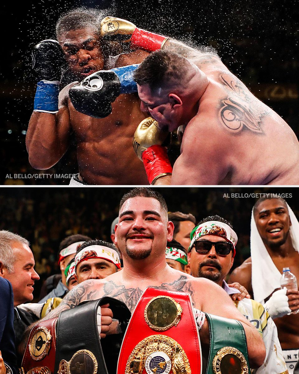 The underdog.  Andy Ruiz Jr. made history last night, becoming the first Mexican heavyweight champion after defeating Anthony Joshua 💪