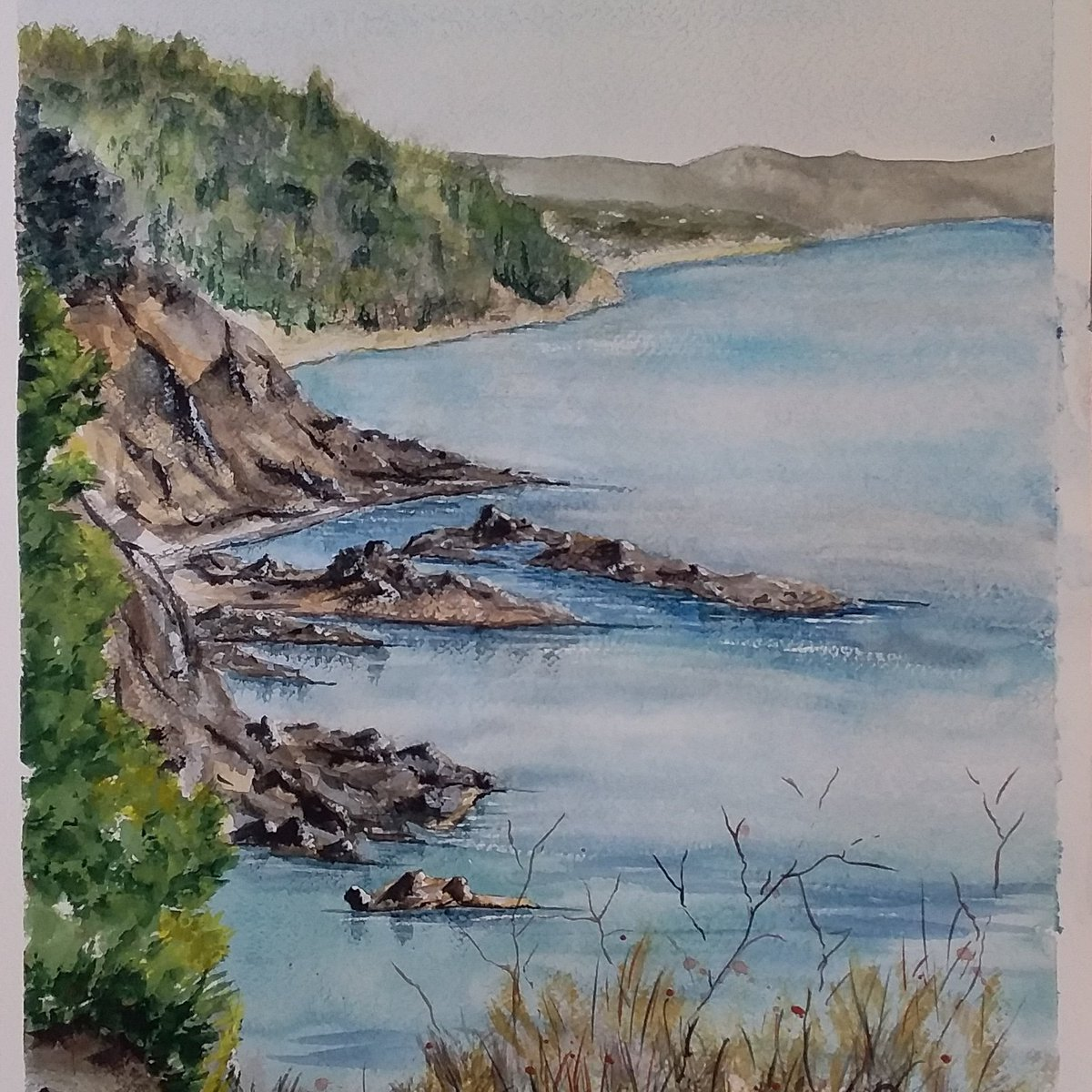 """Artiste Peintre St Tropez pascal manzanos on twitter: """"golf de st tropez. aquarelle de"""