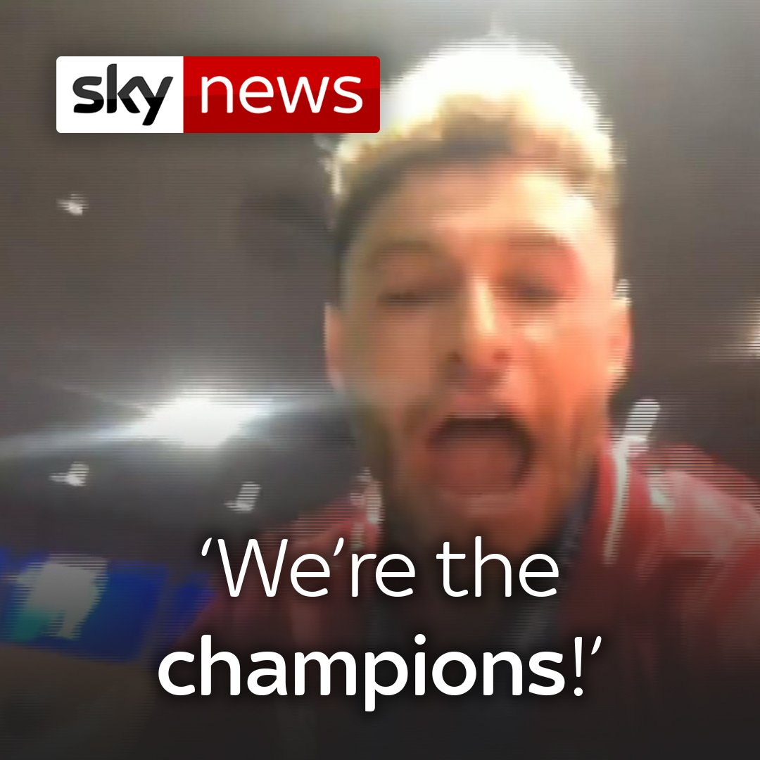 In case you missed it - this is how @LFC celebrated after their #ChampionsLeague2019 victory 🎉🍾🎶  Alex Oxlade-Chamberlain led the dressing room celebrations.   Latest on the #UCLFinal here: http://po.st/Sbt6CF