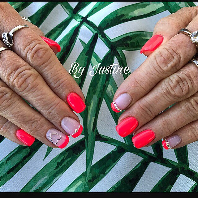 indigo indigonails remplissage gelnails gel nails ongles milkypink  polish outofcontrol rose pink flash fluo ete summer soleil sun  diamant