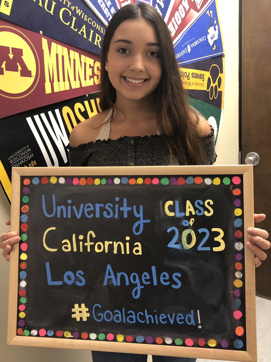 Look who's #UCLAbound! Congrats to our fabulous Lancer, Kelly, and her #goalachieved! We are super-proud!!🤩 #LHSExcellence #lancerpride