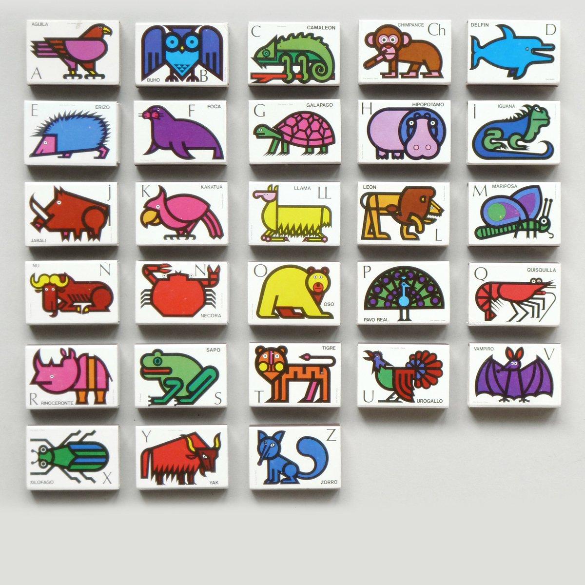 Cruz Novillos Matchbox Alphabet. 1968 tinyurl.com/ybdvo9fx #fontsunday @DesignMuseum
