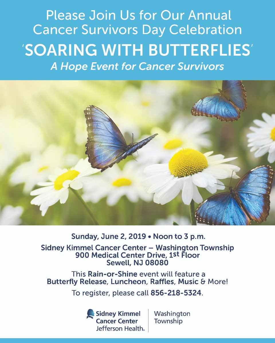 Please join us TODAY for our annual #cancersurvivorsday celebration 'SOARING WITH BUTTERFLIES' - A Hope Event for Cancer Survivors! #WeImproveLives 🦋