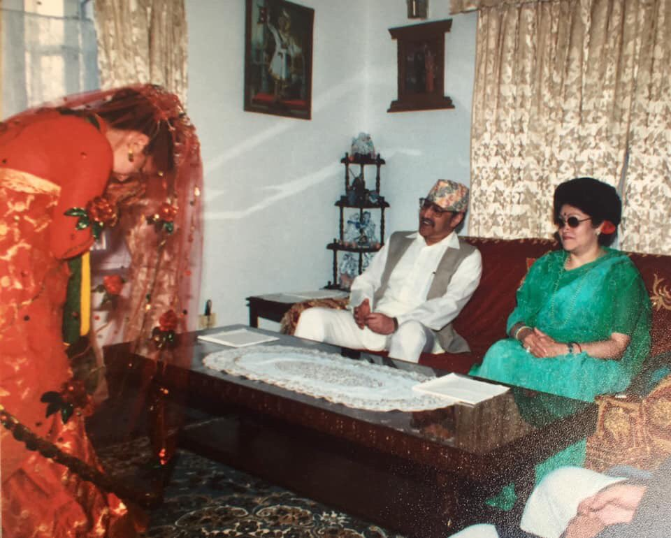Two weeks before the royal massacre. Greeting Their Majesties on my wedding day. #KingBirendra #Nepal https://t.co/BCvNTSAJLO