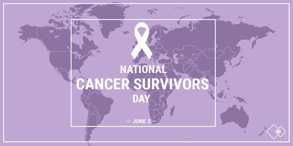 Today is #NationalCancerSurvivorsDay, an annual, treasured Celebration of Life held in communities across the globe. Join us as we recognize those who have survived a cancer diagnosis and provide support to those who continue to fight. @SurvivorsDay