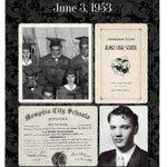 Image for the Tweet beginning: Today in 1953 #Elvis graduates