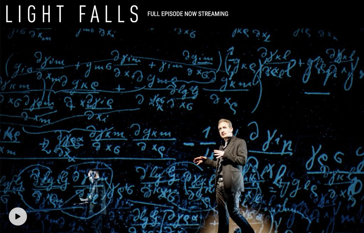 """Don't miss """"Light Falls: Space, Time and an Obsession of Einstein"""" with #physicist #BrianGreene—and we're not just saying that because #CobaltStages did the #VFX! Head to #PBS to see #science illuminated through our innovative custom #MoCo! #LightFallsPBS https://www.pbs.org/wnet/light-falls/…"""
