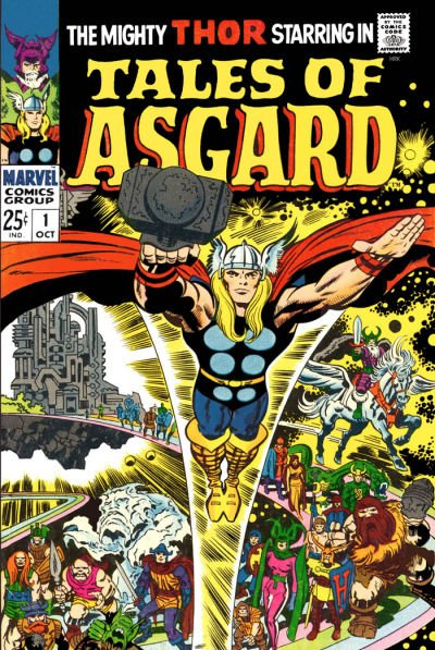 I promise I'll feature cover artists other than Jack Kirby for #MarvelousMonday, just not today. Tales of Asgard 1 is just too wonderful a cover. Reprints some great backups from #Thor @Marvel