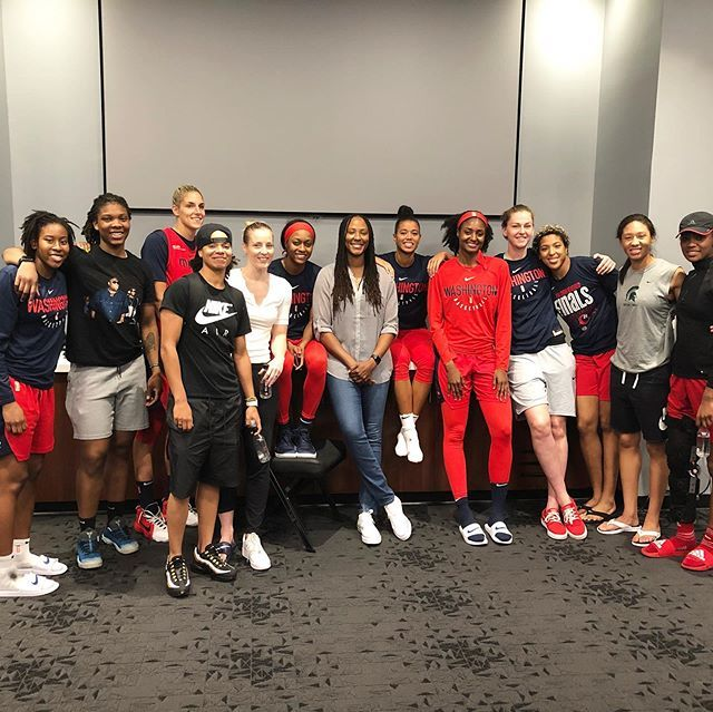I had an amazing time in DC. I appreciate all the love and support this community has always giving me. Great time hanging out with @washmystics and they got the WIN!!! #togetherdc #wnba #dmv #washingtonmystics http://bit.ly/2KnVOJd