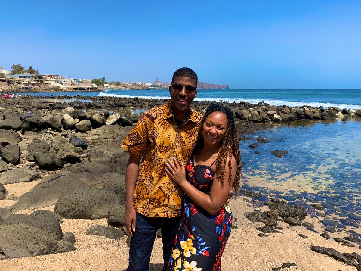 We got engaged during our trip btw. 🥰💖💍 (cc: @adillahunt_) #Dakar #Senegal #CapeTown #SouthAfrica