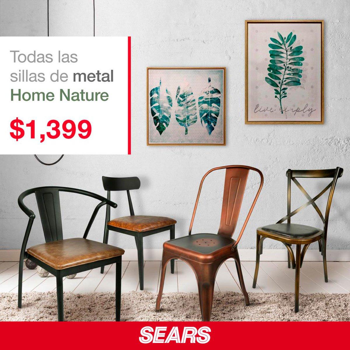 4efc93c46 Ven y aprovecha esta súper promoción que tenemos en sillas metálicas   HomeNature.  SearsMeEntiende
