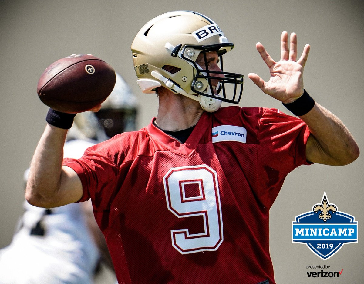 cf070f1bf67 More Info:  https://www.neworleanssaints.com/news/2019-new-orleans-saints-minicamp-presented-by-verizon-practice- schedule … #SaintsCamppic.twitter.com/ ...