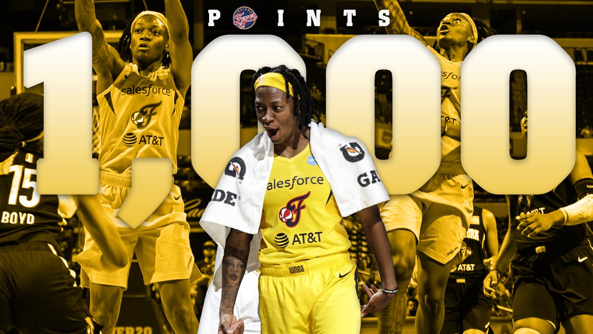 About last night...  Erica Wheeler (@EWeezy_For3eezy) became the 12th player in #IndianaFever 🏀 history to reach a 1,000 points! 👏 #Fever20 | #AllForLove  📝: https://on.nba.com/2MDLNKX