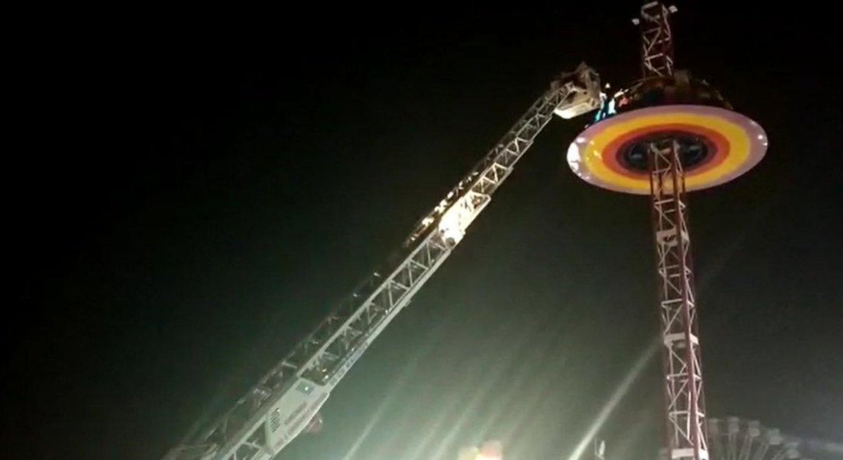 28 stuck in ride in the air rescued by Fire Brigade at fun fair in Sabarmati Riverfront