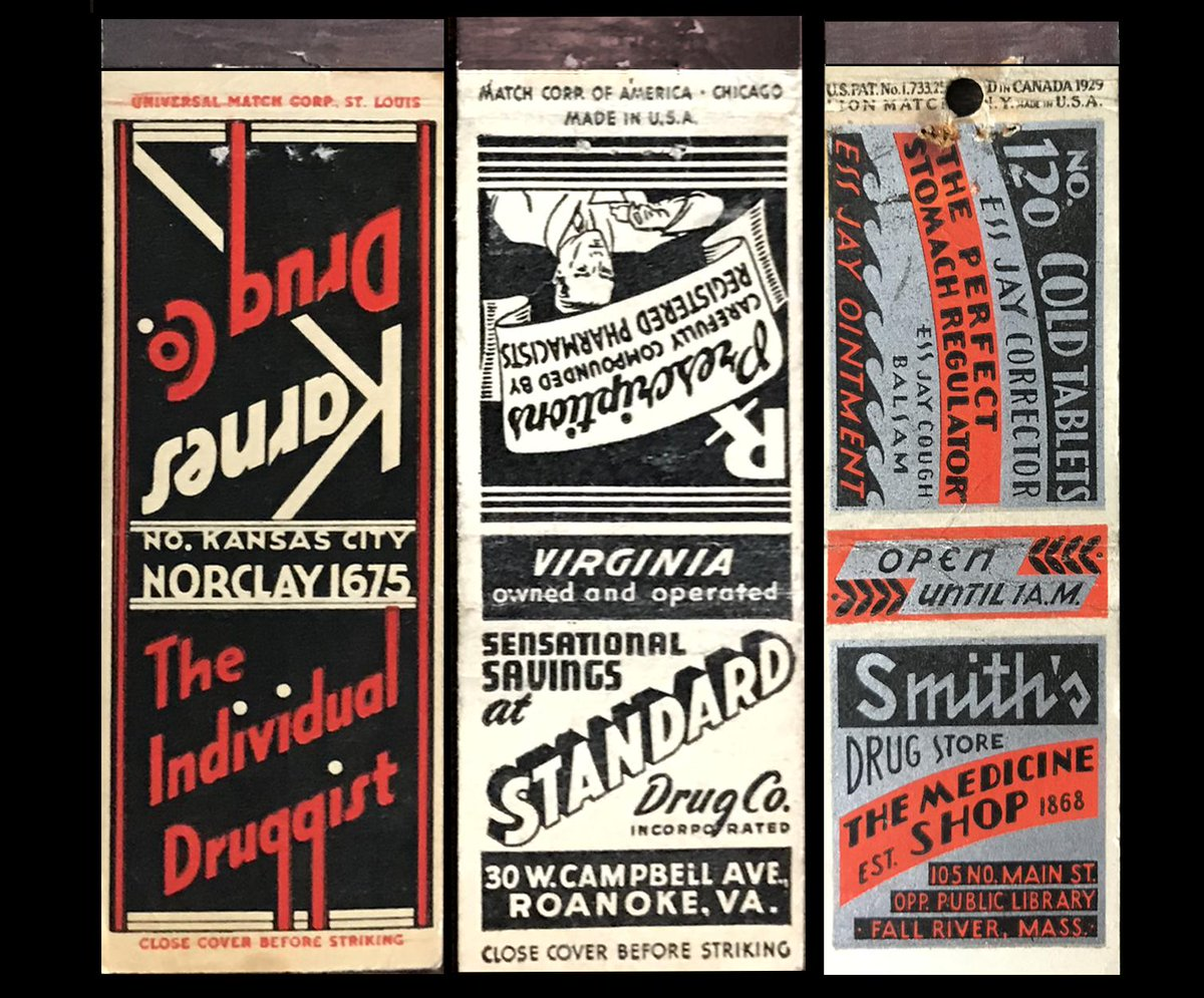 Pharmaceutical matches—a contradiction in terms? #fontsunday #matchbooks @DesignMuseum