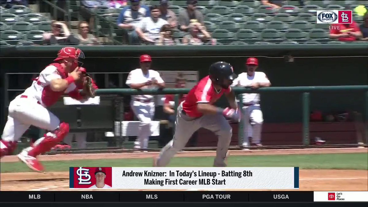 "Andrew Knizner on making his MLB debut: ""To be able to catch a @Cardinals great in my first outing and against the Cubs too? It's gonna be a really cool experience."" #TimeToFly"
