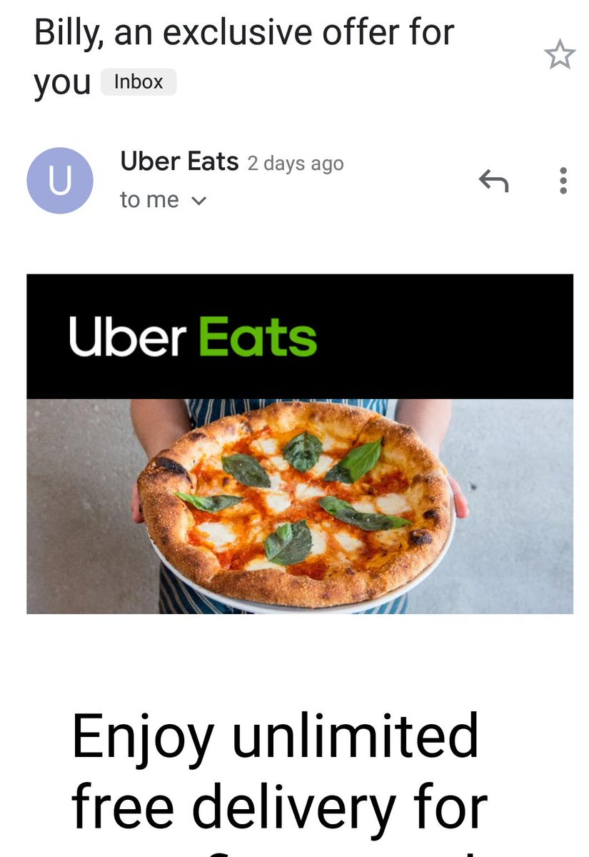 uber eats app free delivery | Image Slny
