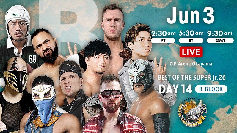 "NJPW: ""Best of the Super Jr. 26"" Día 14 Will Ospreay a la final 2"