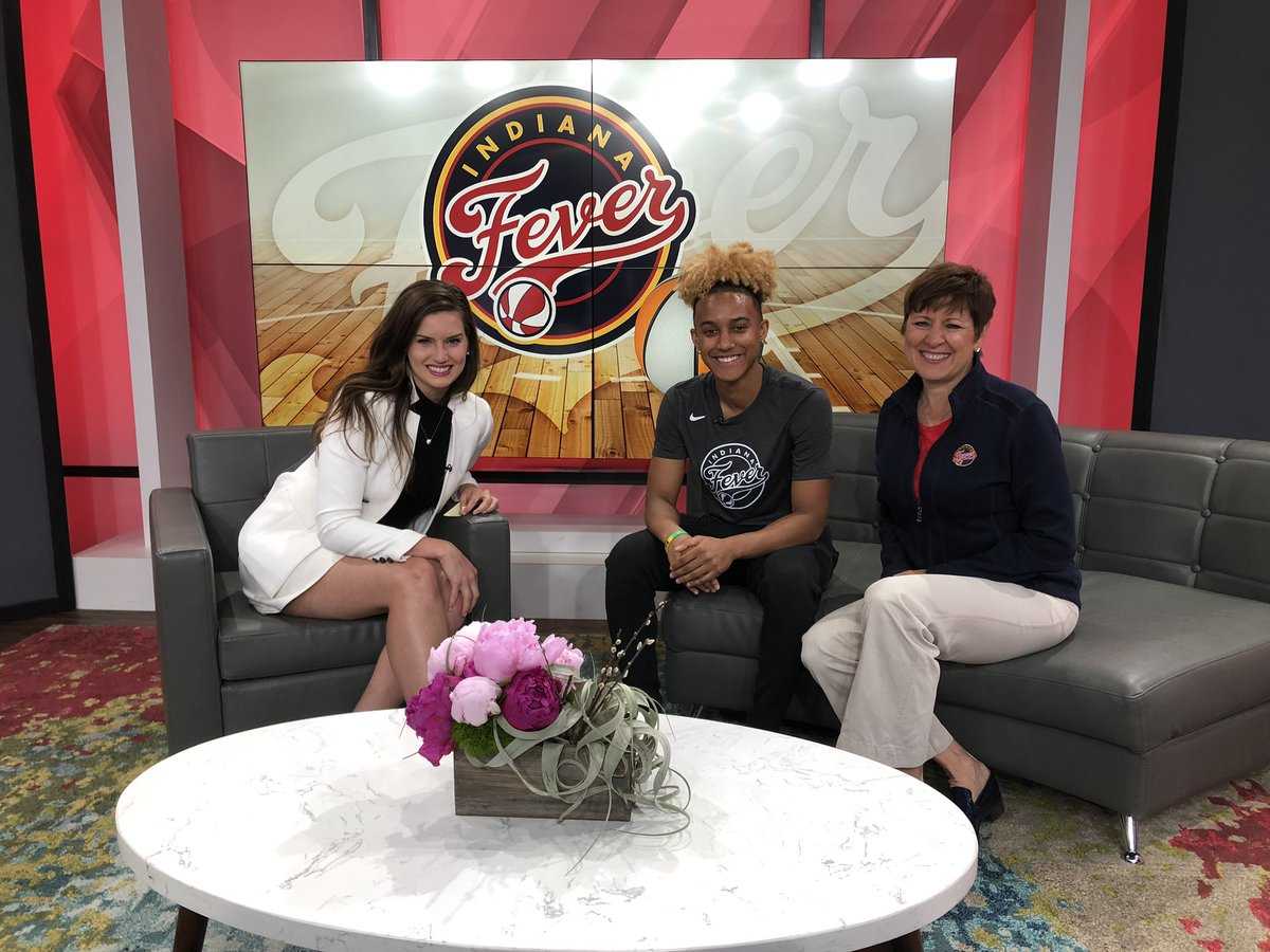 Talking @IndianaFever on @WISH_TV #SportsLocker tonight!  After 10points in pro debut last night, rookie @TheReal_41 (Paris Kea) and new #Fever President @DrAllisonBarber join @Meghan_WISH8 to discuss great start of new - 20th - season! Segment airs 10:20p tonight. #Fever20