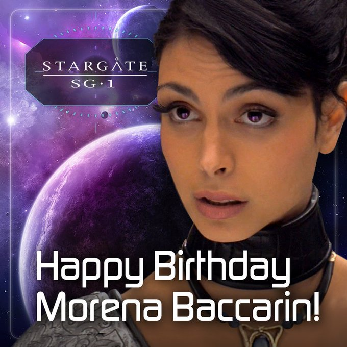 Happy Birthday, Morena Baccarin, who played the adult version of SG-1 s Adria!