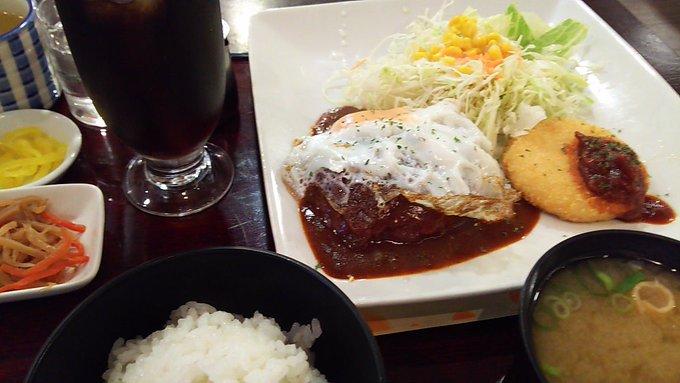 [英語日記] 喫茶店の定食 Cafeteria set meal