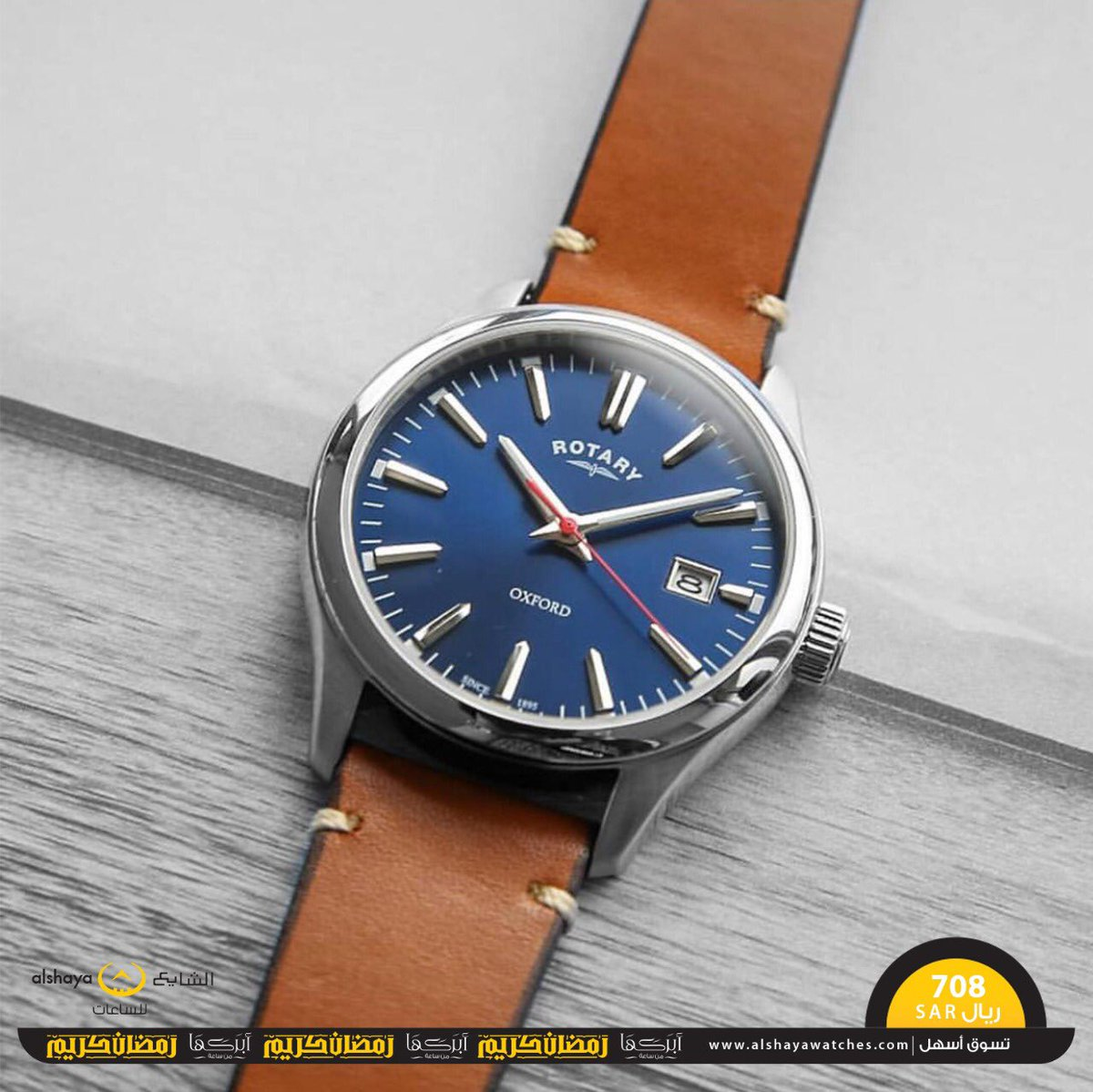b348c01d0 ... الجريء بالتقليدية لينتج هذه الساعة #المبتكرة من ROTARY، حزام من الجلد و  ميناء باللون الأزرق الداكن يقابله حواف مطلية بالفضي تزيدك #أناقة و حيوية .
