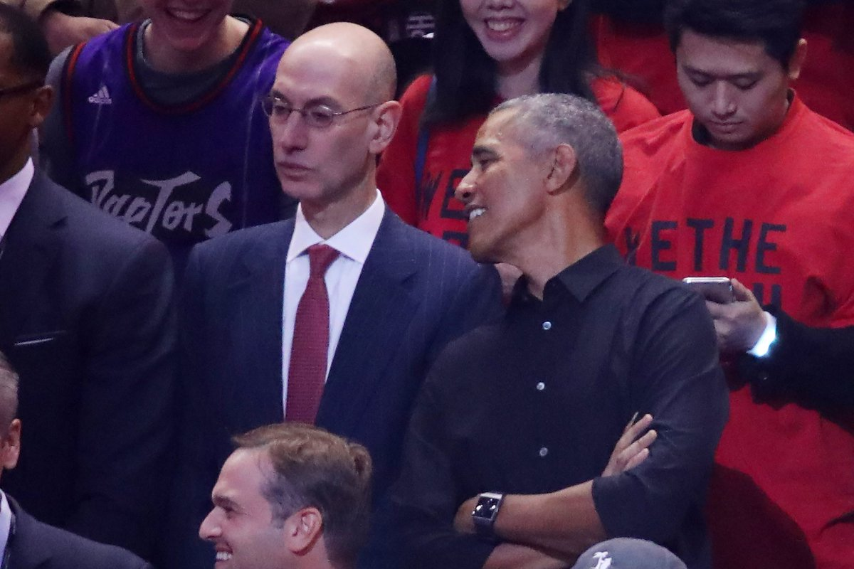 Photos: Look Who Barack Obama Is Sitting Next To At NBA Finals