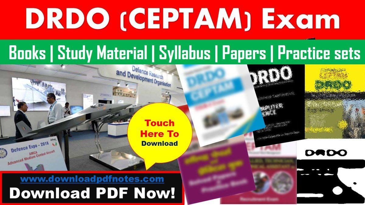 PDF] DRDO (CEPTAM) Study Material | Syllabus | books