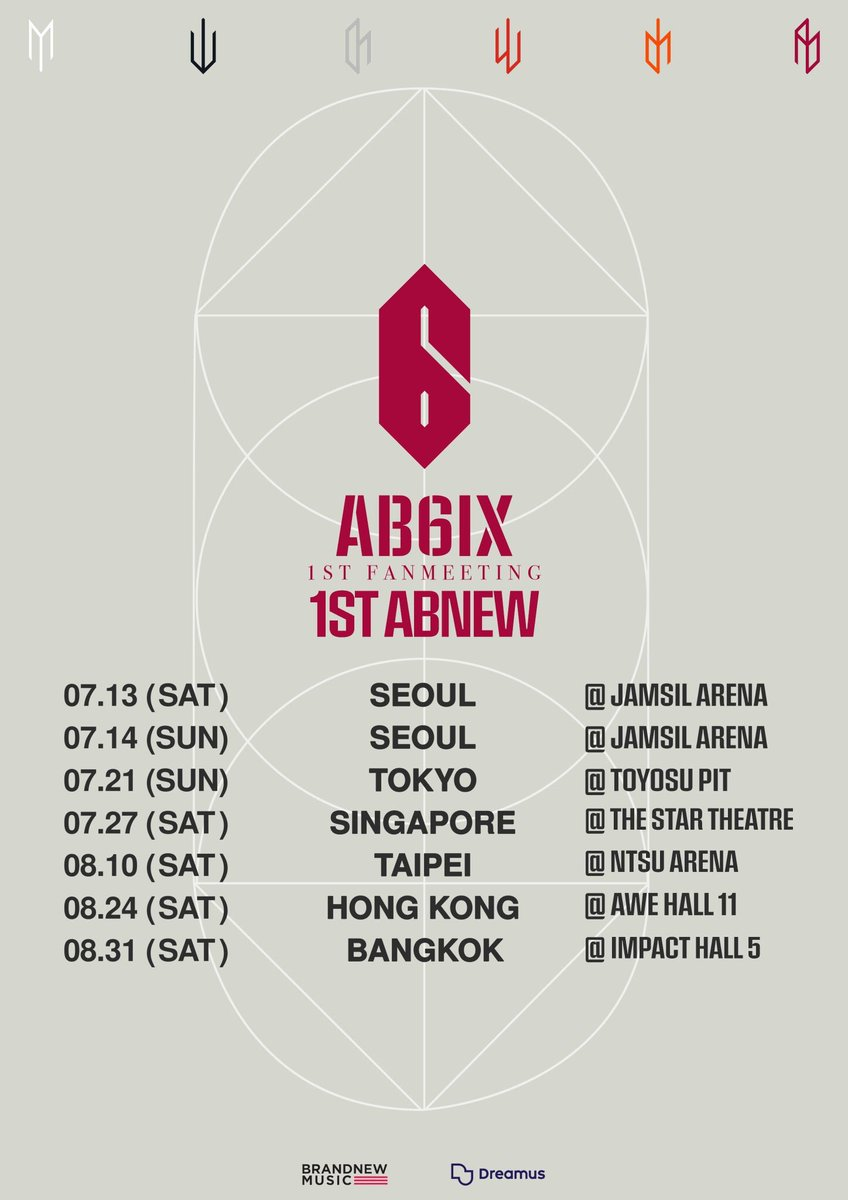 Sg ABNEWs mark your calendars now because #AB6IX will be having their 1st Fanmeeting at The Star Theatre on 27 July 2019 (Saturday)! More details to come. #AB6IXinSG