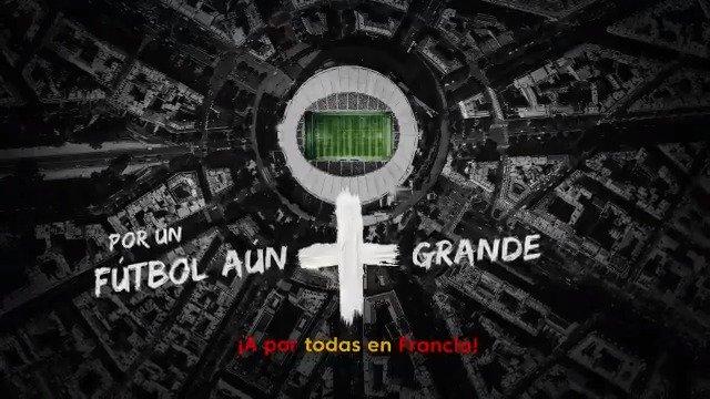 Por un fútbol aún más grande en el que todos aportemos esfuerzo, compromiso, pasión e igualdad.   ♀⚽ #FútbolAúnMásGrande ⚽♀