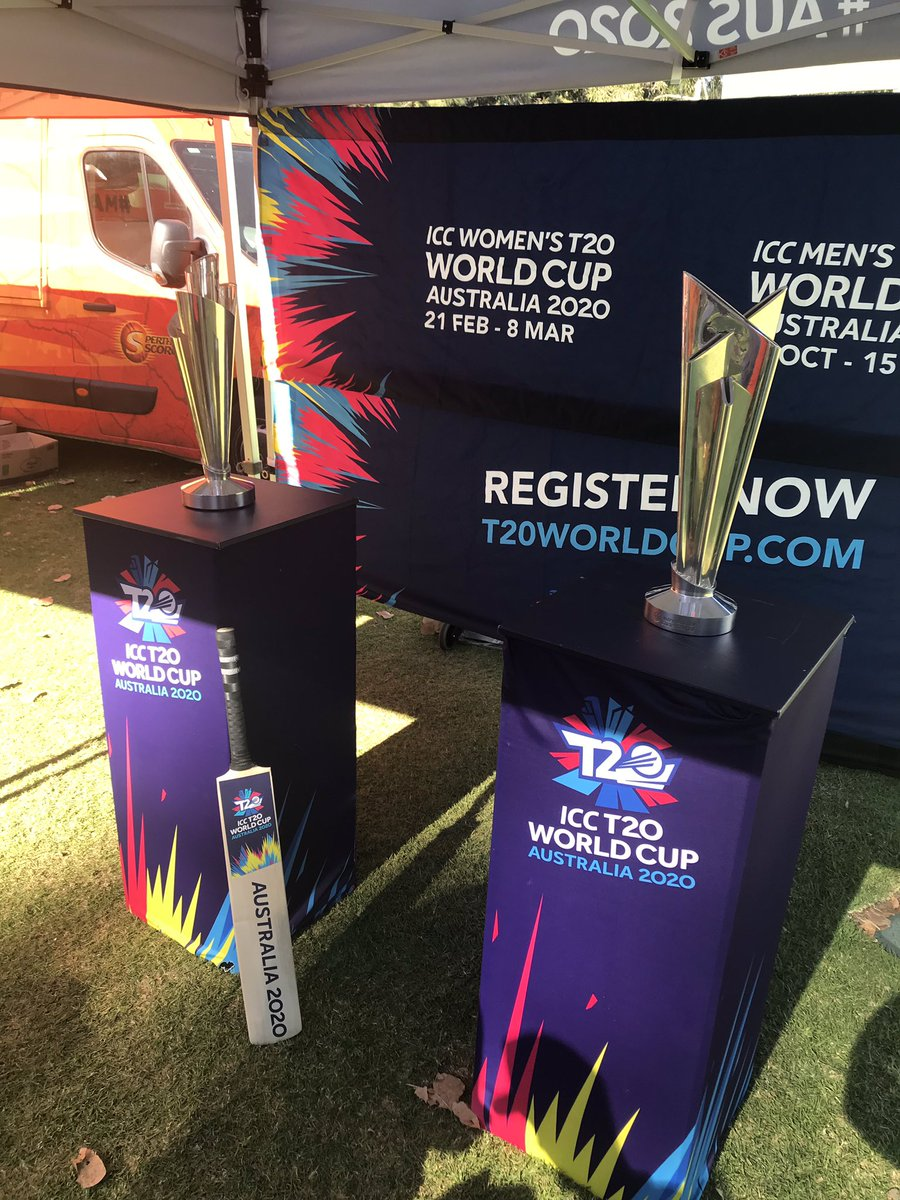 @T20WorldCup men and women trophies  #WADay #WADay2019 #wadayfestival #perth #burswood #burswoodpark #westernaustralia #aus2020 #australia2020 #australia #t20cricket #cricket #t20worldcup #t20worldcup2020 #icccricket #lovecricket #icct20worldcup #icc @ICC @WADayFestival