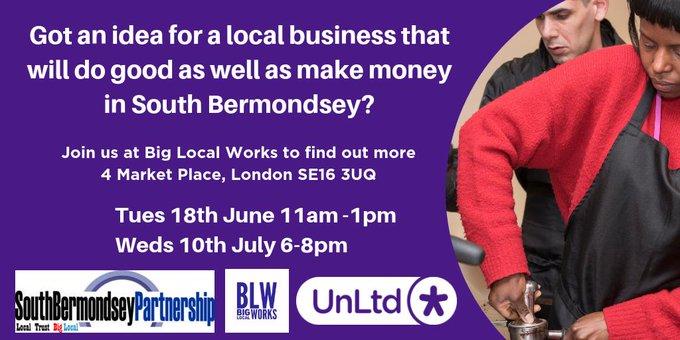 Calling all Social Entrepreneurs in South Bermondsey