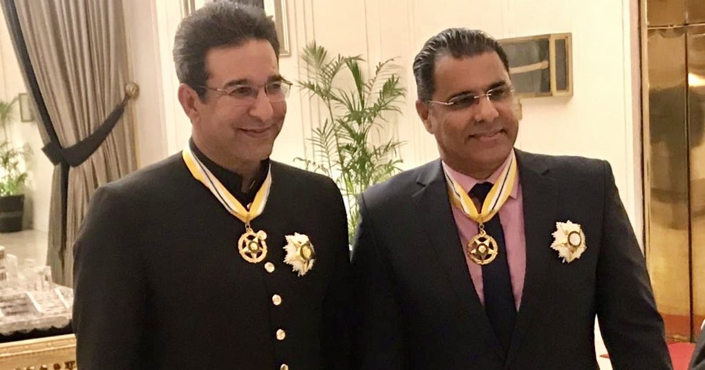 Thank you for all the inspiration during my cricketing days Wasim Bhai.. I wouldn't a been able to achieve what I have without you bowling from the other end.. #HappyBirthday Have a Long, Happy and Healthy Life @wasimakramlive #Legend