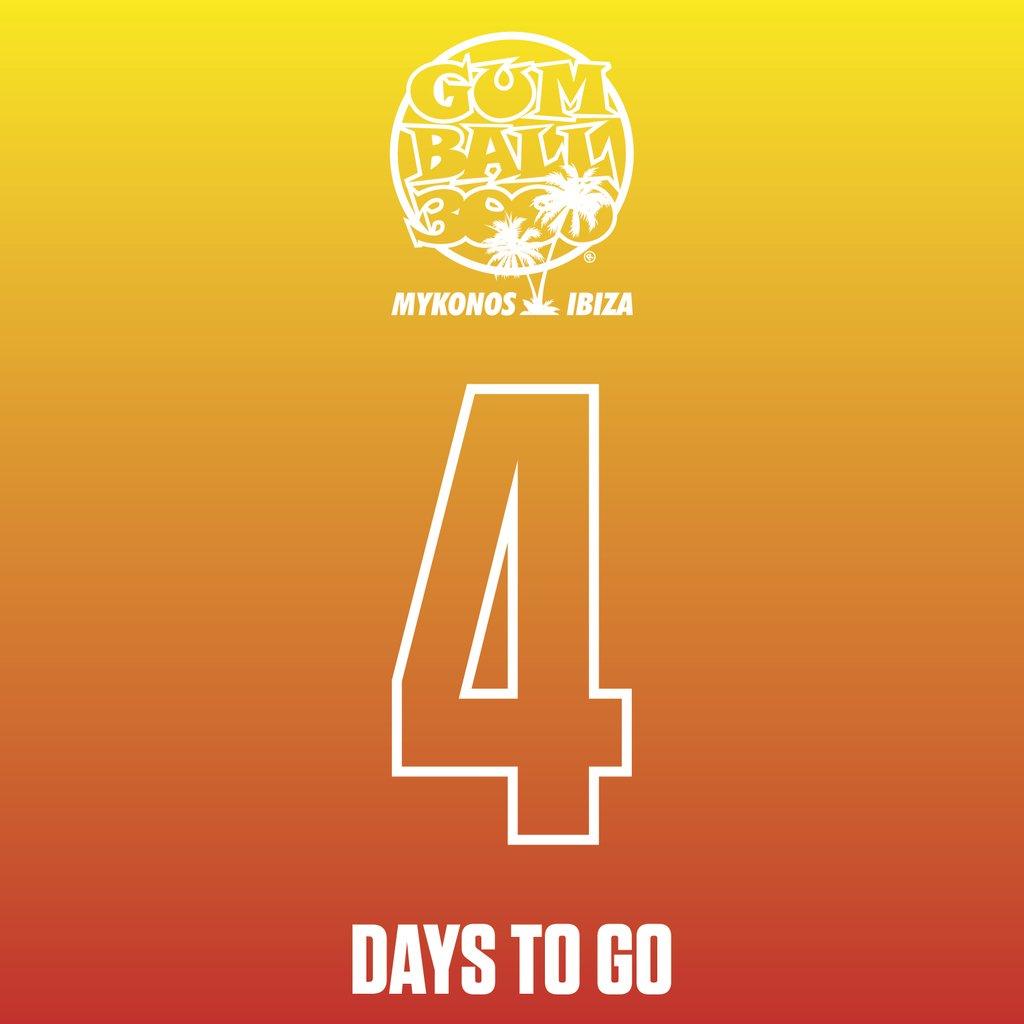4 DAYS TO GO!!! #MykonosvIbiza⠀ #Gumball3000⠀ #GumballLife⠀ ⠀