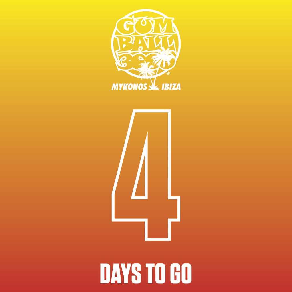 4 DAYS TO GO!!! #MykonosvIbiza⠀ #Gumball3000⠀ #GumballLife⠀ ⠀ https://t.co/YVsxvtmXEM