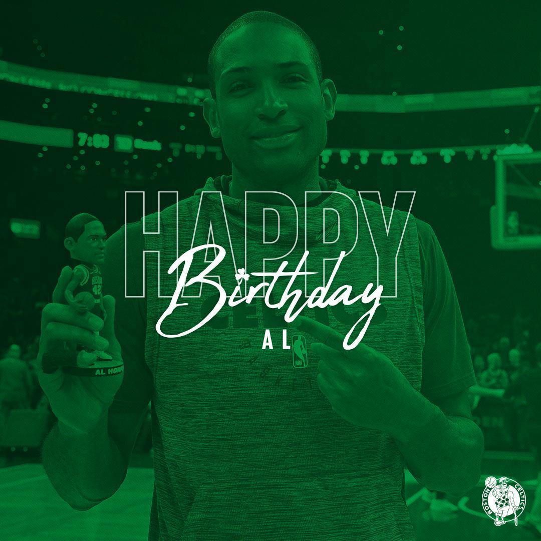 Happy birthday @Al_Horford 🎉☘