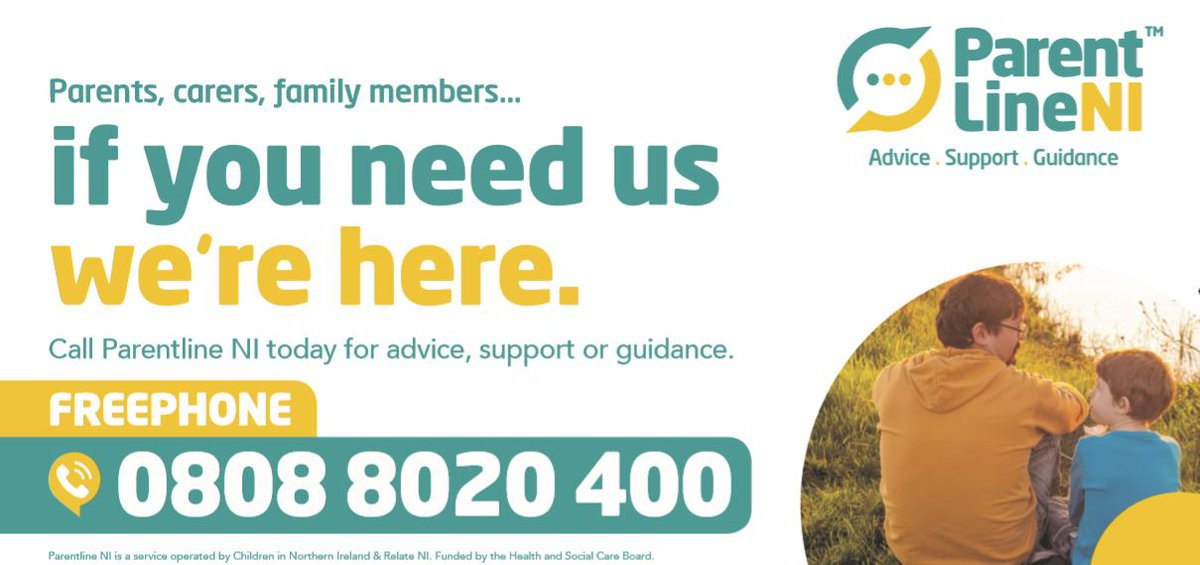 Parentline is open until 5pm today and 9am to 1pm tomorrow.  Call free on 0808 8020 400 for advice, support and guidance